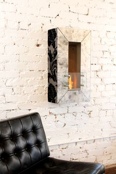 Terra Flame Home – The Art of Essential Living – Vintage Aged Mirror Wall Fireplace Home Fireplace, Fireplaces, Living Vintage, Modern Wall, Modern Living, Dream Decor, Vintage Walls, Apartment Living, Living Spaces