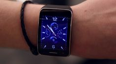 The Samsung Gear S Is A Smartphone On Your Wrist [Samsung SM-R750 Gear S GSM: http://futuristicshop.com/samsung-sm-r750-gear-s-gsm-8501900mhz-hsdpa-3g-8501900mhz-blue-black/ | Smart Watches: http://futuristicshop.com/category/smart-watches-wearable-electronics/]
