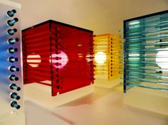 Cubes of Color table lamps
