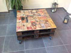 DIY coffee table from pallets