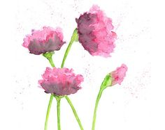 Watercolor flower flower art watercolor poppies abstract