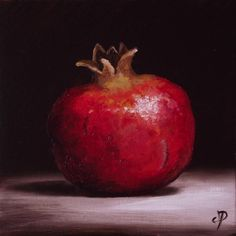Pomegranate, J Palmer Daily painting Original oil still life Art