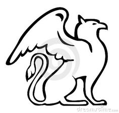Illustration about Griffin in black on white. Illustration of emblem, logo, griffin - 1195867 Griffin Tattoo, Griffin Logo, Gryphon Tattoo, Griffin Drawing, Free Clipart Images, Wood Carving Art, Celtic Art, Mythical Creatures, Line Drawing