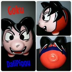 Color Me Mine, Goku, Piggy Bank, Clay, Marvel, Pigs, Fictional Characters, Ideas, Safe Room