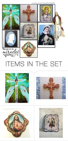 """""""Religious Art on Etsy by TerryTiles2014 - Volume 414"""" by terrytiles2014 ❤ liked on Polyvore featuring art, etsy, catholic and religious"""