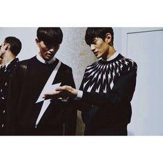 "JIN DACHUAN &KIM TAEHWAN - ""Neilbarrett"" 2014F/W Milan Fashion Week Menswear #fallwinter #fall2014 #mensfashionweek #2014fW #mfw #malemodel #menswear #fashionweek #menscollections #mensstyle #milan #style #milanfashionweek #fashion #fw14 #model #kmodel #milancollectionmen #runway #mmfw #mmfw14 #LesHommes #koraemodel"