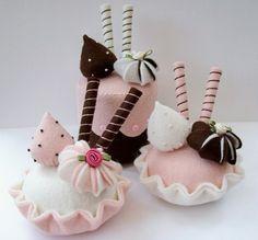 felt cupcake really nice
