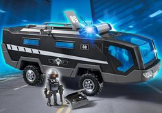 Be the first on the scene with the Playmobil Tactical Unit Command Vehicle. Keep an eye on the suspects from the command room with seating for up to five figures. Equipped with flashing lights and sound, this vehicle will arrive at the scene of the crime in no time! For added covert play, upgrade this set with the RC Spy Camera (#4879). Set includes one figure, command vehicle, cameras, flashlight, and other accessories. 4 Years + $82.99