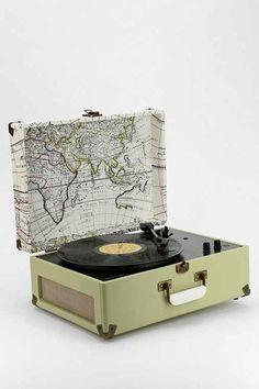 Crosley X UO AV Room Portable USB Vinyl Record Player- Slate One