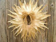 Corn husk wreath