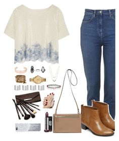 """""""OOTD for New Year"""" by xxbettyxx ❤ liked on Polyvore featuring Rosamosario, Warehouse, Leith, ALDO, Topshop, Michael Kors, Lacoste, Maison Margiela, Accessorize and Borghese"""