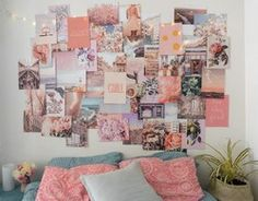 Peachy Pink Collage Kit Collage Wall Decor is part of Wall collage decor Decorate your dorm or room with this peachy pink collage kit Feel free to use however you like, you can overlap the prints, - Wall Collage Decor, Bedroom Wall Collage, Room Wall Decor, Bedroom Decor, Picture Wall Collage, Collage Ideas, Collage Walls, Photo Collages, Bedroom Wall Pictures
