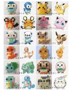 Pikachu Hama Beads, Perler Bead Pokemon Patterns, Pyssla Pokemon, Perler Bead Templates, Hama Beads Patterns, Beading Patterns, Perler Bead Disney, Diy Perler Beads, Pearler Beads