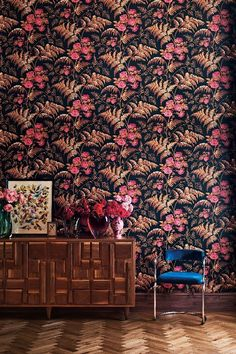 A classic Cole   Sons Rose trail design combined with fern leaves given a  modern twist e30f85c475