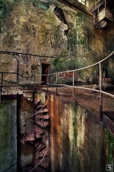 another #derelict staircase .To the underground by Sven Fennema #Urbex