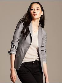 Gray Lightweight Wool Blazer