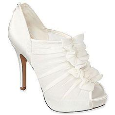 Jacqueline Ferrar® Bridal Jovana Ruched Peep-Toe Pumps - jcpenney