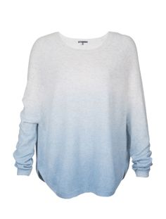 Vince Cashmere Ombre Sweater - The ombre pattern of this Vince sweater looks like a cloud, which is fitting because this sweater simply feels like heaven. Made out of a featherweight knit, it is dreamily soft. A dropped raglan sleeve and curved bottom hems make for an extra soft silhouette.