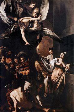 The Seven Works of Mercy - Caravaggio.  1607.  Oil on canvas.  390 x 260 cm.  Pio Monte della Misericordia, Naples, Italy.