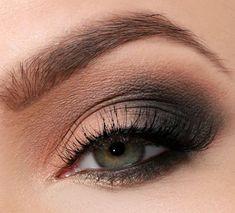 Smokey Eyes Peach Anthracite Lidschatten Green Eyes – … - Prom Makeup Looks Hazel Eye Makeup, No Eyeliner Makeup, Blue Eye Makeup, Eye Makeup Tips, Makeup For Brown Eyes, Smokey Eye Makeup, Makeup Ideas, Makeup Tutorials, Beauty Makeup