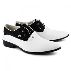 Dress Pointed Toe and Lace-Up Design Men's Formal Shoes, WHITE, 41 in Men's Shoes | DressLily.com