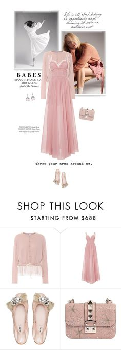 """Odette"" by olivochka ❤ liked on Polyvore featuring RED Valentino, Elie Saab, Miu Miu, Valentino and Axenoff Jewellery"