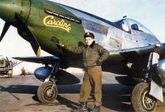 "P-51 "" CAROLINE "" & PILOT"