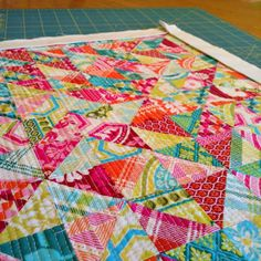 Mini Quilt-1 1/2 inch HSTs from scraps of Notting Hill by J Dewberry