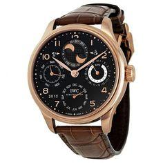 IWC Portuguese Perpetual Calendar Black Dial Men's Watch 5032-02