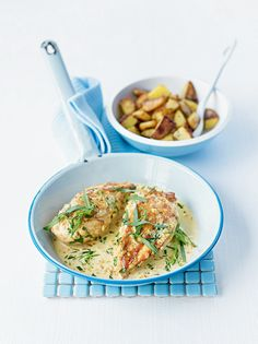 A quick, herby supper for two that's bound to satisfy.