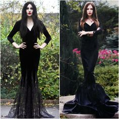 Morticia Addams Adams Family Costume Ideas Fancy Dress Halloween 2014                                                                                                                                                      More