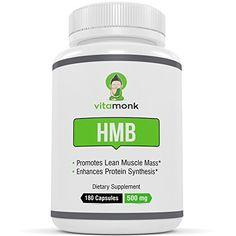 If you�re looking for an excellent HMB supplement then check out this one from Vitamonk. It has 180 capsules and 500mg of HMB in each capsule.