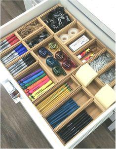 office WORKspace Craft and office school supplies storage drawer organization Kitchen Organization Pantry, Small Space Organization, Office Organization, Diy Organizer, Organizers, Diy Mode, Small Drawers, Drawer Organisers, Office Decor