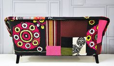 Patchwork sofa with suzani &Thai Hmong fabrics by namedesignstudio, $2500.00