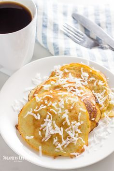 Dairy free coconut milk pancake recipe that's also gluten free, keto, low carb and paleo. Super easy to make with canned coconut milk giving you a healthy, fluffy pancake mix. Coconut Milk Pancakes, Dairy Free Pancakes, Coconut Flour, Canned Coconut Milk, Almond Flour, Best Gluten Free Recipes, Keto Recipes, Protein Recipes, Oven Recipes
