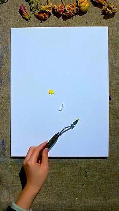 Diy Painting, Painting & Drawing, Watercolor Paintings For Beginners, Oil Pastel Art, Diy Canvas Art, Tree Art, Painting Inspiration, Creative Art, Art Drawings