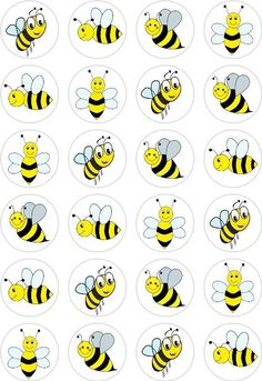 24 Bumble Bee Cupcake Fairy Cake Toppers Edible Rice Wafer Paper Decorations in Crafts, Cake Decorating | eBay