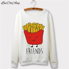 2016 New Casual Women Pullover O-Neck Hoodies Long-sleeve Loose Best/Friend Letter Print Sweatshirts Tracksuit for Women WP312