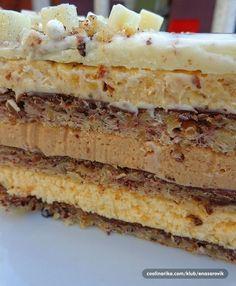 Internacional torta – Recepti na brzinu Torte Recepti, Kolaci I Torte, Baking Recipes, Cookie Recipes, Dessert Recipes, Sweet Desserts, Sweet Recipes, Yogurt Dessert, Russian Cakes