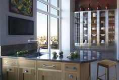 Glass cabinets-Ikea hack? Kitchen Design by St. Charles of New York