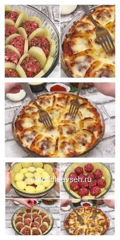 Boil potatoes and slice them arrange with meatballs and cheese and bake for a delicious french treat – Artofit Plats Ramadan, Meat Recipes, Cooking Recipes, Good Food, Yummy Food, Turkish Recipes, Easy Meals, Food Porn, Food And Drink