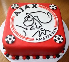 Ajax soccer cake
