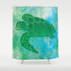 Sea Turtle Shower Curtain Kempu0027s Ridley Watercolor