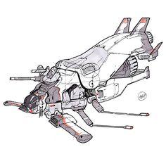 Spaceship Sketches 03, chromatinker . on ArtStation at https://www.artstation.com/artwork/dG1mK