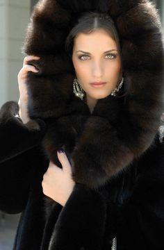 ༺♥༻ fur coats, luxury fashion, beauti fashion, furs, hood sabl, mink fur, luxuri fur, luxe style, fur hood