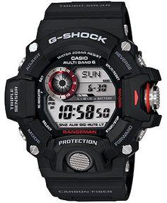 1eb89b1b8 G-Shock Men's Digital Rangeman Black Resin Strap Watch 54x55mm GW9400-1 -  Watches