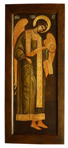 Archangel Gabriel, Ewa Kociuba - Pracownia Temper, private collection, Lubiń, Poland.