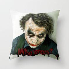 the joker pillows | Heath Ledger: Joker ''Revisited'' Throw Pillow