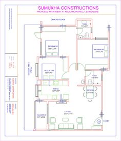 18x36 feet ground floor plan plans pinterest house 35x60 house plans