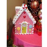 Pink Gingerbread House Christmas Decoration